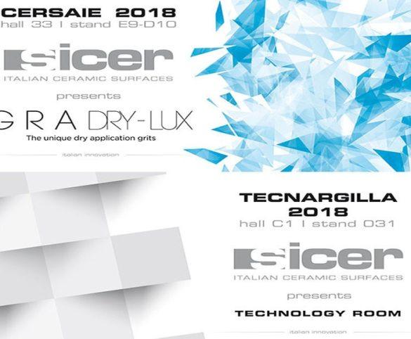 Sicer will attend CERSAIE and TECNARGILLA 2018