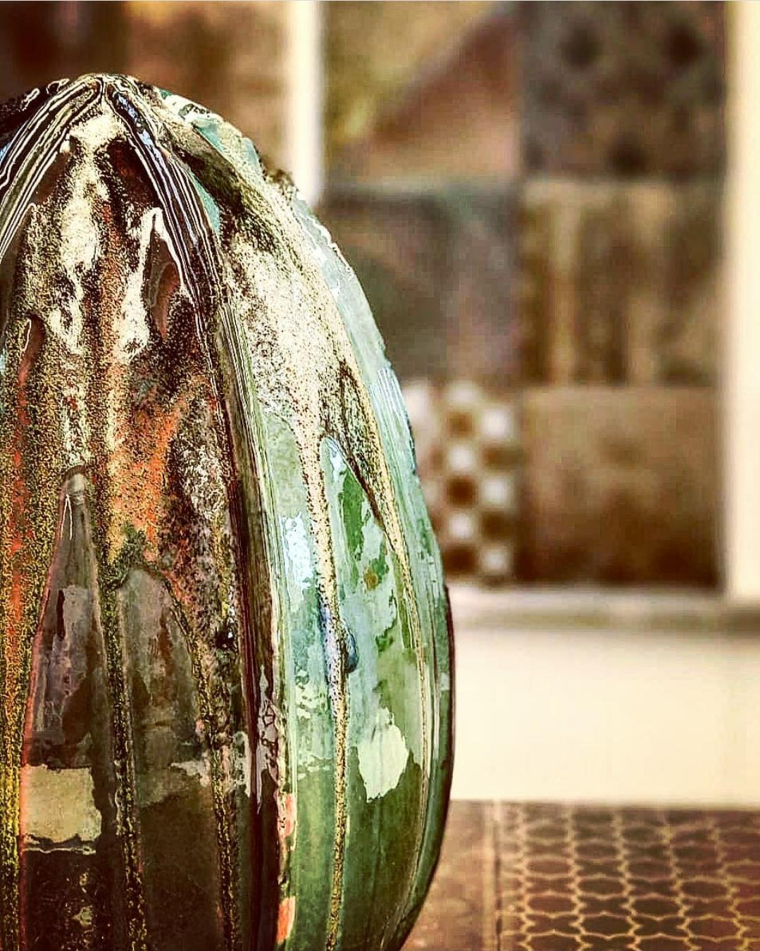 Raku metallic glazes